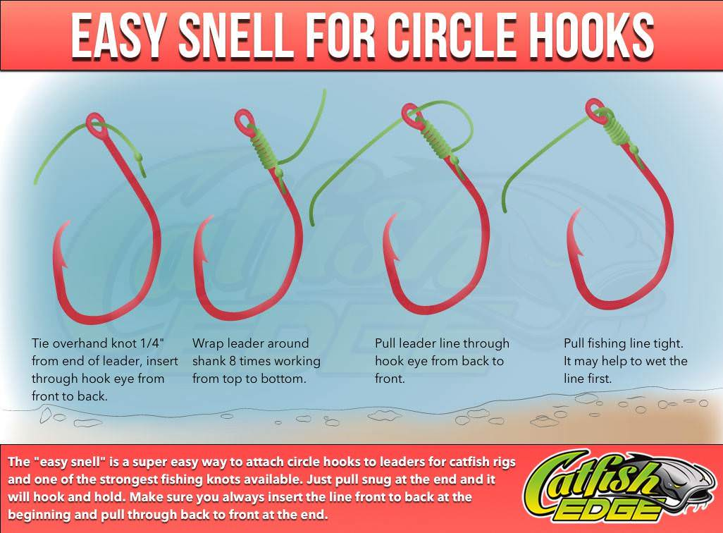 How to snell a hook the easy way snell for triple threat for Good fishing knots
