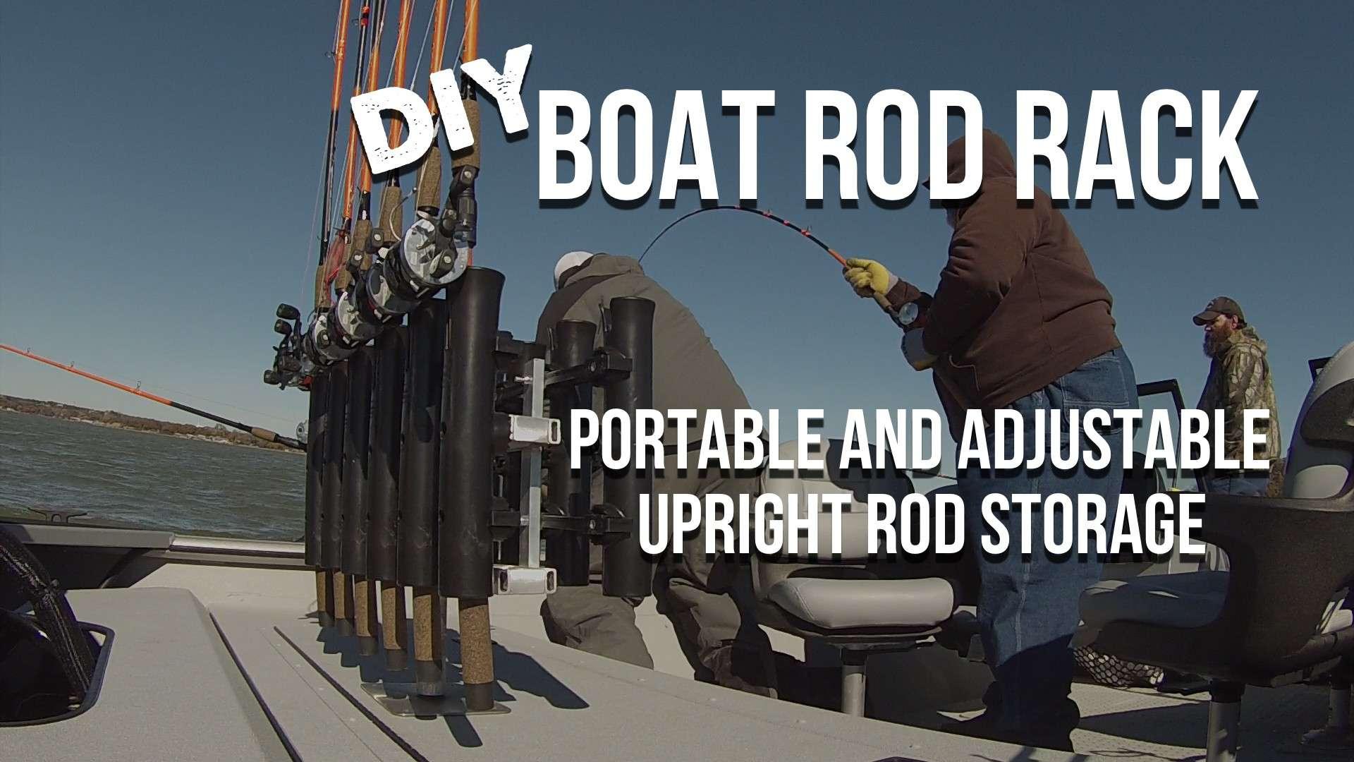 Diy boat fishing rod holder