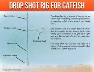 Drop Shot Rig For Heavy Cover Catfish
