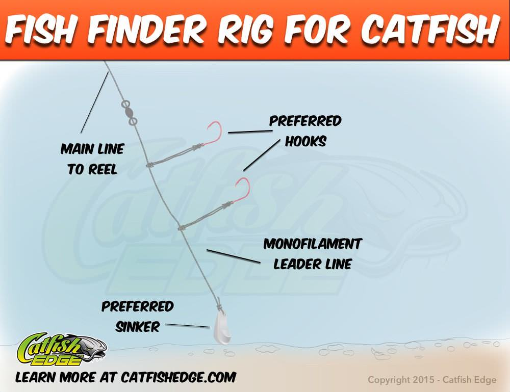The fish finder rig should you be using it for catfish for Best catfish rig for bank fishing