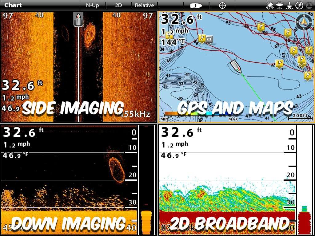Sonar Fish Finder Catfish Example 4 Screen