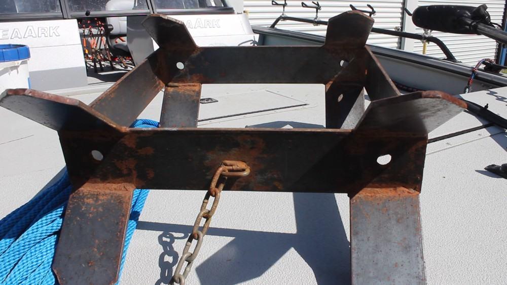 Bed Liner Spray >> Box Anchor - The Affordable DIY Catfish Boat Anchor