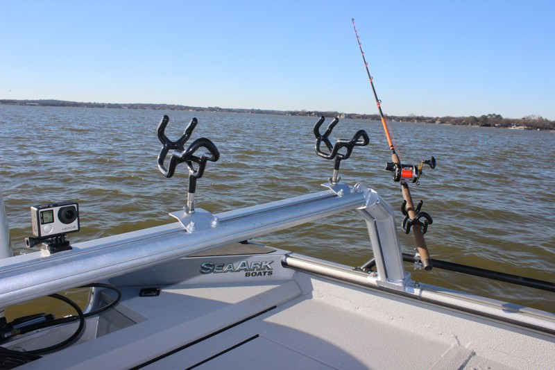 Fishing rod rack for boats